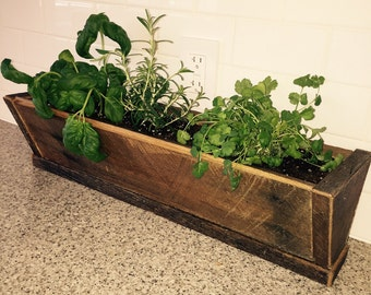Reclaimed Wood Herb Planter