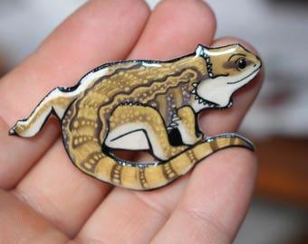 Bearded Dragon magnet for car locker or fridge: Great gift for lizard lovers