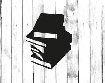 Stack of Books - Car/Truck/Home/Laptop/Computer/Phone Decal