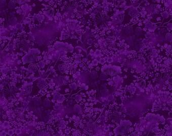 Flowers Purple Natural Wonders Studio E Fabric 1 yard