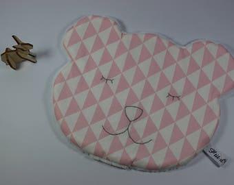 Cuddly soft pink triangles