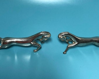 Vintage Silver Plated Horse Knife Rests - Set of Three