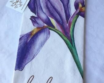 Dish Towel -Wild Iris Tea Towel