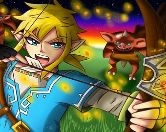 Legend of Zelda: Bokoblins at Twilight Art Print
