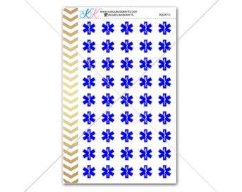 EMT star of life Stickers for planner, calendar! Functional planner stickers medical sticker functional sticker doctor sticker #SQ00015