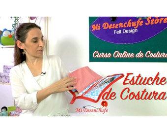 Curso Online de Costura - Estuche de Costura - Neceser para Labores  - Costura, DIY, Labores. Videotutorial + Patrones