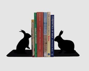 Rabbit bookends - Cool metal bookends handmade from steel