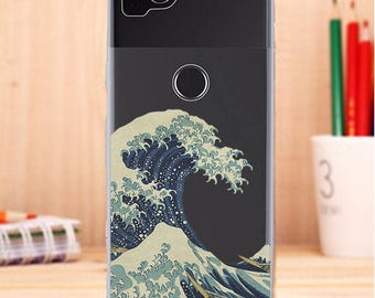 Waves case, Pixel 2 case, kanagawa wave, case for Pixel, Pixel case, Pixel wave case, Pixel 2xl case, Pixel xl case, silicon, japanese wave