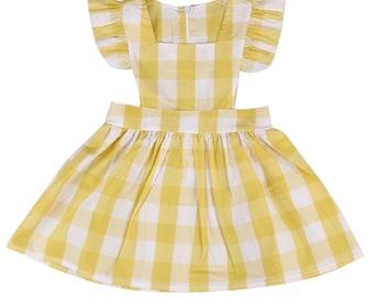 Yellow checked dress