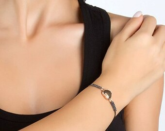Grey Labrodorit Stone Bracelet