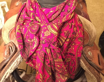 Red and Yellow Paisley Wild Rag
