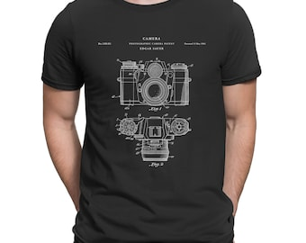 Camera Patent T Shirt, Camera Shirt, Photography Shirt, Camera Art P28