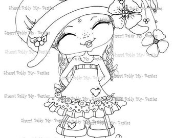 INSTANT DOWNLOAD Digital Digi Stamps Big Eyed Besties Big Head Dolls fancy pants little pixie's new boots By Sherri Baldy