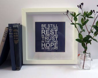 Be Still In the LORD frame, Beautiful Christian Gift!