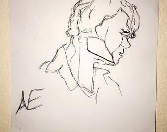 "9x10 Pen drawing "" Peter"""