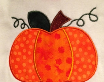 Two fabric simple pumpkin applique