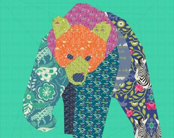 Little Bear- A 12 inch Paper Pieced Pattern