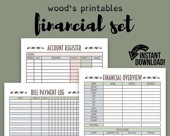 financial planner pdf printable bill tracker bill planner