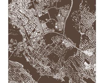 Dartmouth NS Cityscape Art Print / Nova Scotia Canada City Map Wall Art / 8x10 / Choose your Color