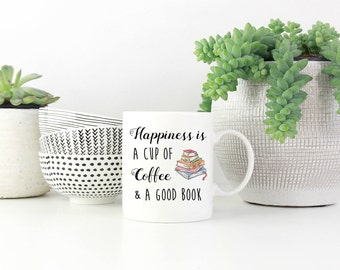 Book lover mug, Coffee and a good book,book lover gift, book mug, reading mug, Coffee mug, Book Nerd, Bookworm, Book Gift, Coffee Lover