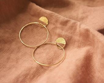 Abri Hoops | Brass or Sterling Silver Earrings