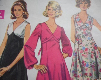Vintage 1960's Simplicity 8243 Dress Sewing Pattern Size 12 Bust 34
