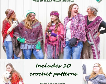 Discount Pattern Set – Country Market Collection – 10 Crochet Patterns - Womens Accessories