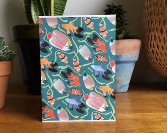 Tropical card 5x7''