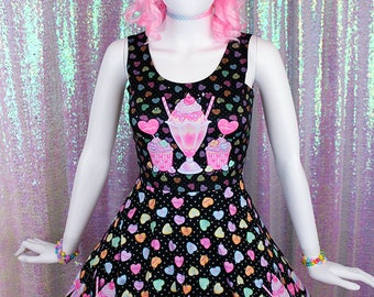 "Black ""Lovely Candy Heart"" Dress"
