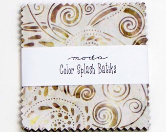 Moda Color Splash Batiks Charm Squares- 1 pack