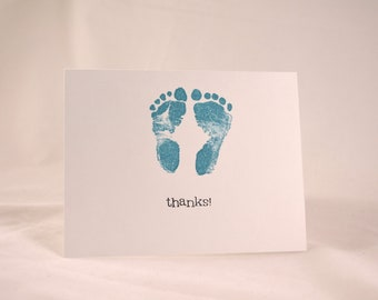 Baby Thank You Cards set of 10 - Bright Blue