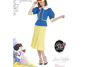 Simplicity 8486 - MISSES Vintage 1930's Snow White Dress and Hat
