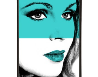 Sapphire - Pop art portrait of Joanna Lumley, the absolutely fabulous model Bond-Girl and Avenger