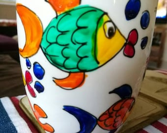 A reminder of our magnificent Great Barrier Reef fish and coral coffee mug