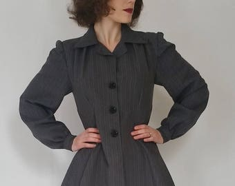 Woman of the Year • Reproduction 1940s Peplum Jacket