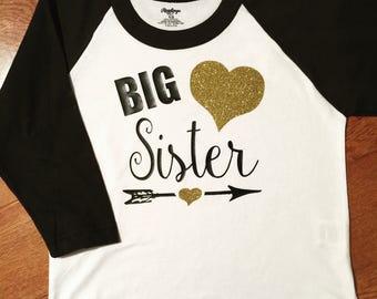 Big Sister Tee or Raglan Tee...