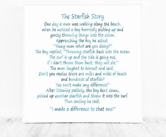 The Starfish Poem by Loren Eiseley