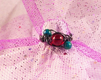 Sapphire Australian Jasper Ring Choose Your Size