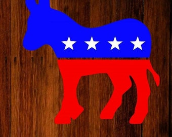 democratic donkey vinyl decal, democratic donkey decal, democrat decal, donkey decal, car decal, laptop decal, yeti decal, tumbler decal