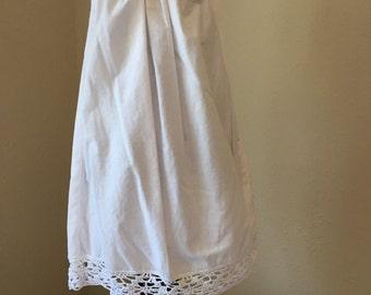 White Cotton Pillowcase Dress 2T