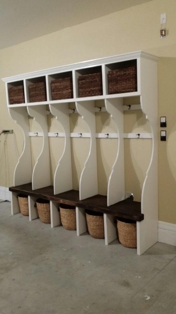 Handcrafted Custom Mudroom / Garage Wall Unit. Lockers for