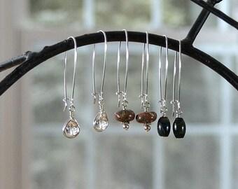 Interchangeable Earrings, Interchangeable Jewelry, Gemstone Earrings, Sterling Silver Earrings