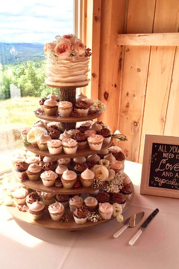 cupcake wedding cake stands photos rustic cupcake stand 5 tier tower holder 120 cupcakes 250 13188