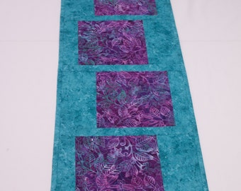 Stepping Stones Quilted Batik Table Runner