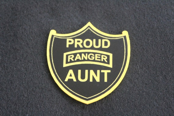 Proud Us Army Ranger Aunt Pin
