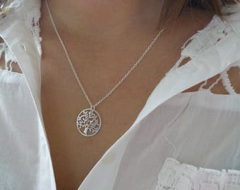 Sterling silver necklace, tree of life, tree of life pendant, 925 sterling silver, for women, for girls