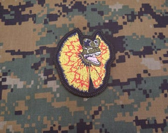 Jurassic Park Dilophosaurus Hook and Loop Military/Morale Patch!