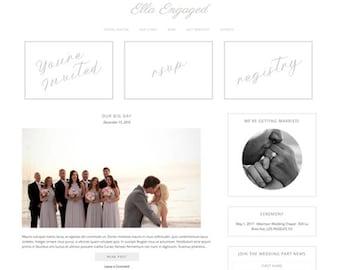 WordPress Wedding Website - Ella Engaged - Genesis Blog Template - Website Theme Design