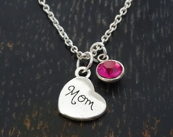 Mom Necklace, Mom Charm, Mom Pendant, Mom Jewelry, Mother Necklace, Mommy Necklace, Mother Jewelry, Mommy Jewelry, Mom Birthday, Mom Gifts