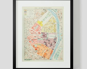 Map of Paris Septieme 7th Arrondissement